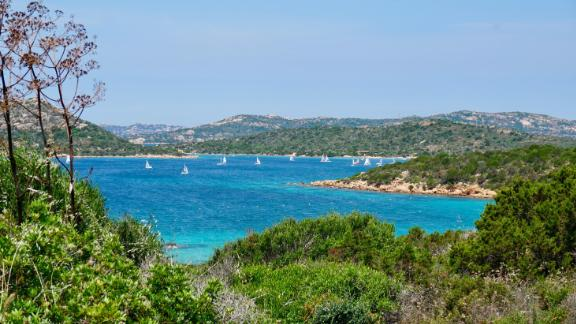 One of the popular anchorages in the La Maddalena Archipelago -- it just happens to look this amazing.