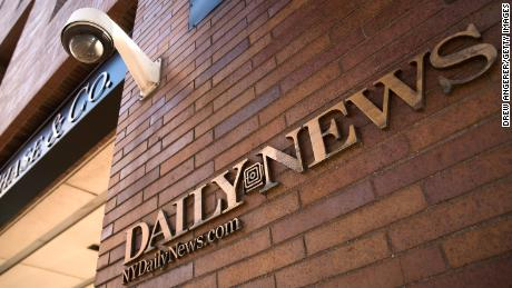 NEW YORK, NY - SEPTEMBER 5: Signage for the New York Daily News is displayed on the facade of their Broad Street office, September 5, 2017 in New York City. Tronc, the publisher of the Chicago Tribune and The Los Angeles Times newspapers, announced on Monday that is had purchased The New York Daily News. Previously owned by Mort Zuckerman, Tronc paid one dollar in cash plus the assumption of liabilities to purchase the nearly 100-year old tabloid newspaper. (Photo by Drew Angerer/Getty Images)