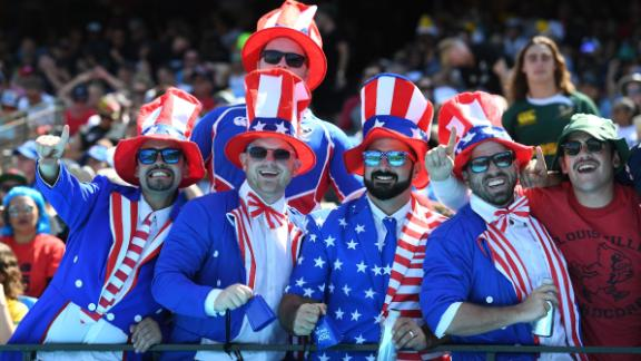 Over 100,000 fans attended the Rugby World Cup Sevens in San Francisco.