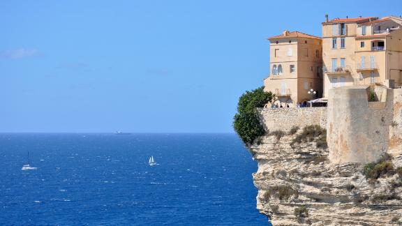 At the top of the Bonifacio cliffs whilst waiting on a mistral.
