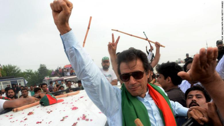 Khan addresses voters after claiming victory