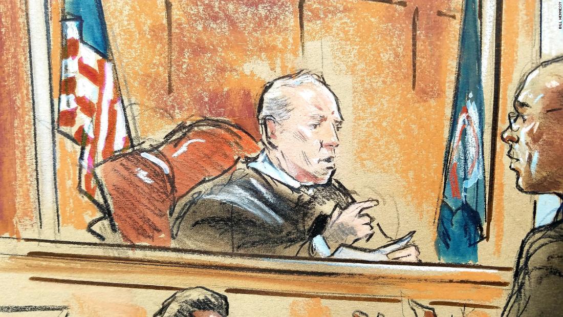 Image result for IMAGES OF MANAFORT JUDGE ELLIS IN COURT