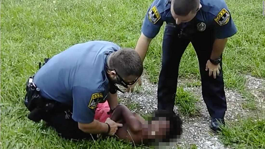 The first video showed an officer restraining a child. The second one told a more complicated story.