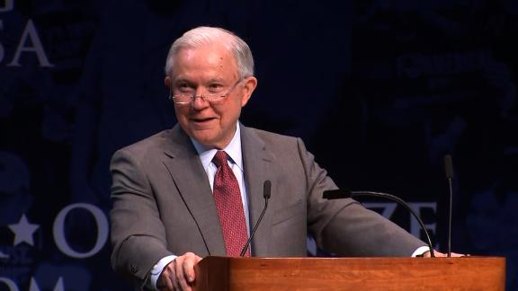 AG Sessions - Turning Point USA HS Leadership Summit Remarks  Attorney General Jeff Sessions will deliver remarks at Turning Point USA's High School Leadership Summit  OPEN PRESS (Camera Preset for K9 security sweep: 7:30 a.m. EDT // Final access time for print media without gear: 8:45 a.m. EDT)   NOTE:  All media must RSVP and present government-issued photo I.D. (such as a driver's license) as well as valid media credentials. (CNN has RSVP'd)
