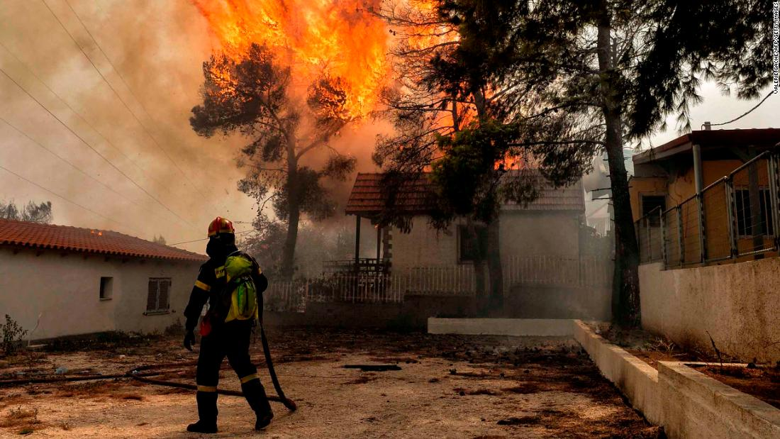 Live: Wildfires burn in Greece - CNN