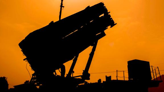 """A US Patriot missile defence system is pictured during the Israeli-US military exercise """"Juniper Cobra"""" at the Hatzor Airforce Base in Israel on March 8, 2018.Exercise Juniper Cobra is a five-day combined military exercise between Israel and the United States.  / AFP PHOTO / JACK GUEZ        (Photo credit should read JACK GUEZ/AFP/Getty Images)"""