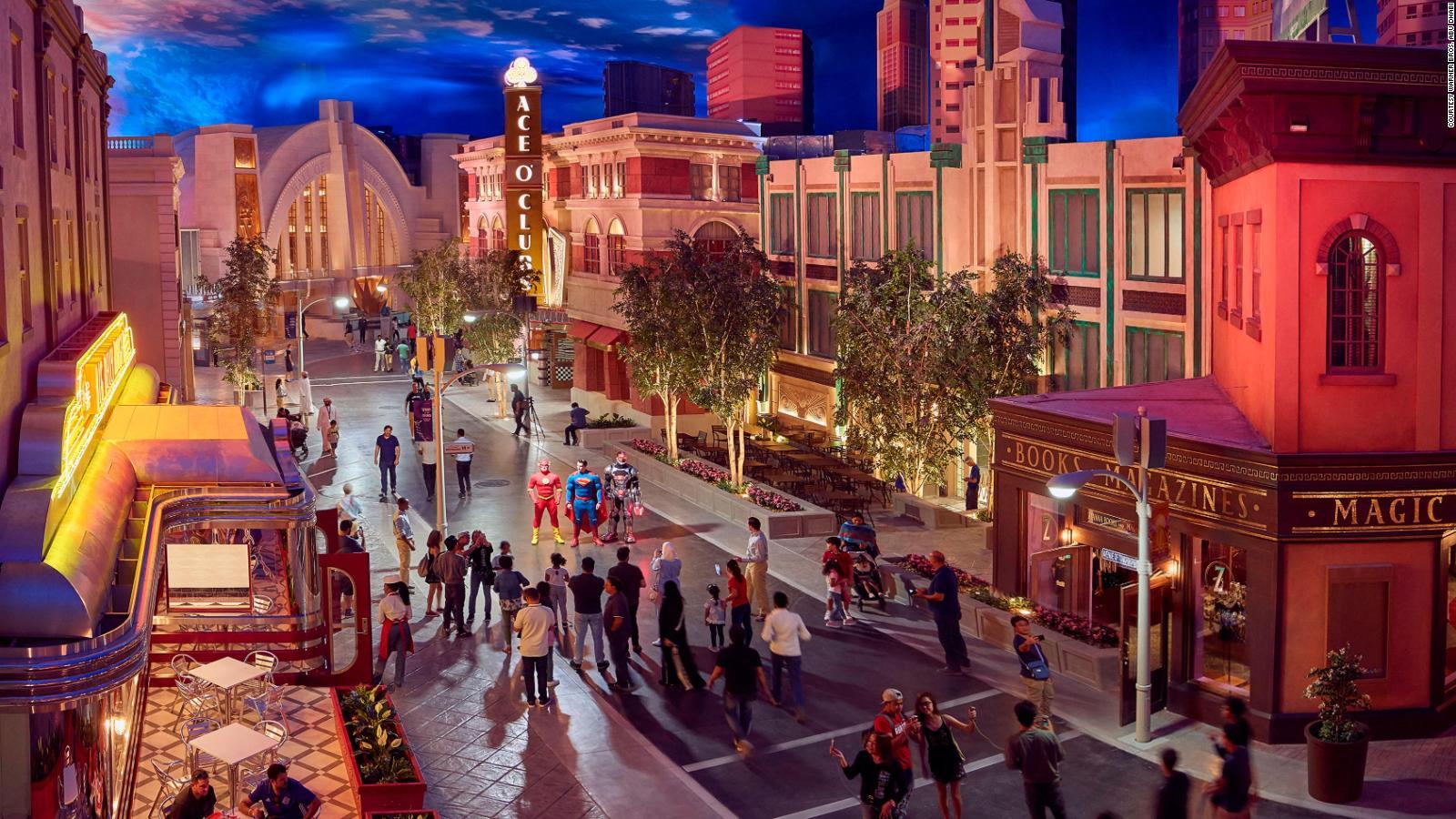 Warner Bros  World theme park opens in Abu Dhabi | CNN Travel