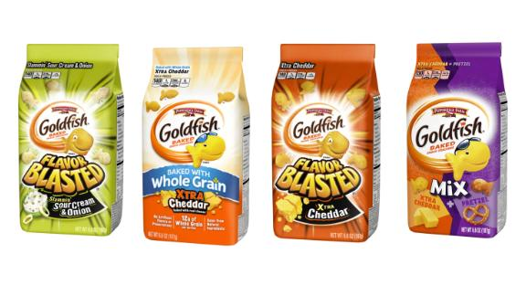 Flavor Blasted Sour Cream & Onion, Flavor Blasted Xtra Cheddar, Goldfish Baked with Whole Grain Xtra Cheddar Goldfish Mix Xtra Cheddar + Pretzel were recalled.