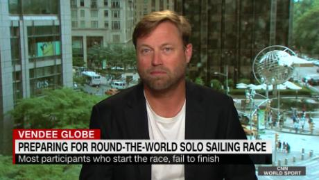 Alex Thomson Prepares For Round The World Solo Sailing Race Cnn Video