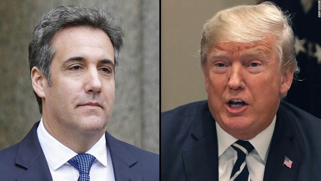 Trump blasts Cohen over tape disclosure
