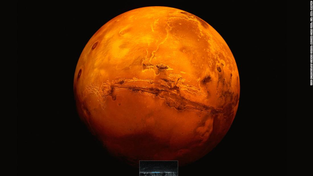 Evidence detected of lake beneath Mars' surface