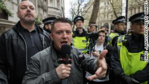 A jailed UK far-right activist has gained some big-name US supporters