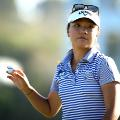 Lydia Ko of New Zealand reacts after her round during day one of the ISPS Handa New Zealand Women's Open