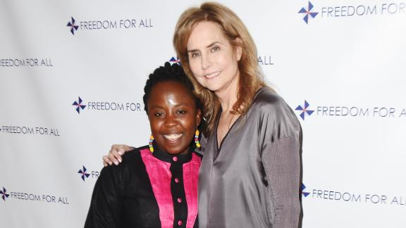 Francisca Awah with Katie Ford at the Freedom For All Gala in New York City, May 2016.