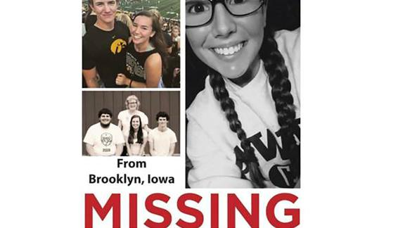 The poster distributed asking for information about Mollie Tibbitts' disappearance.