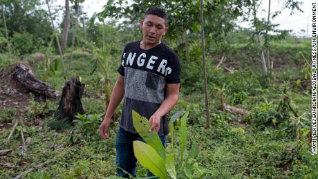 Bedoya, 18, says he wants to continue his father's fight to protect the community's land.