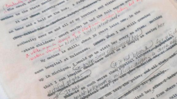 Malcolm X Manuscripts were on display by Guernsey