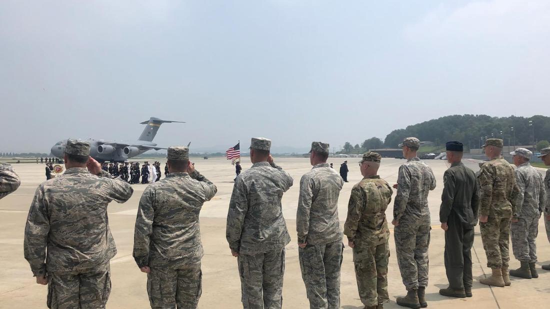 North Korea hands over possible remains of US war dead