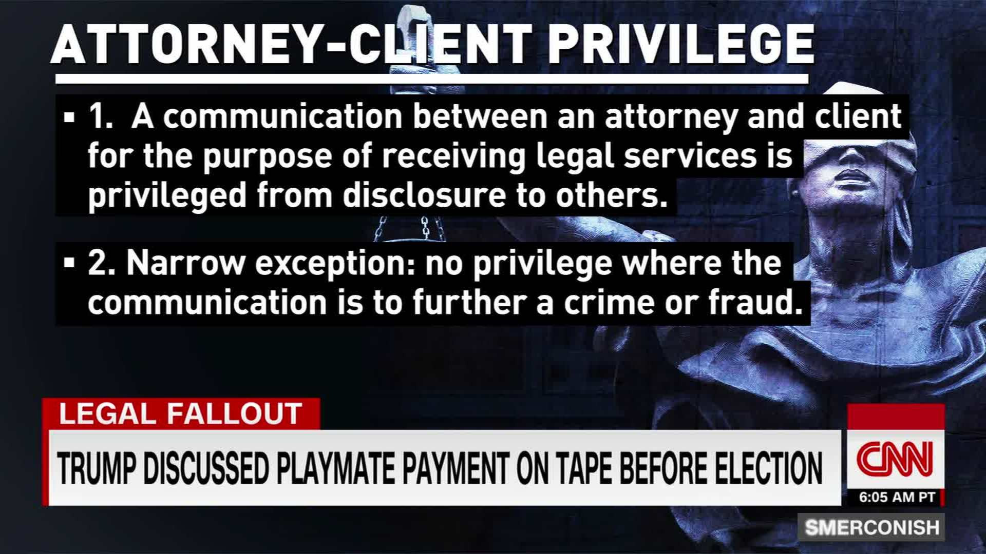 Attorney Client Privilege And The Cohen Tape Cnn Video