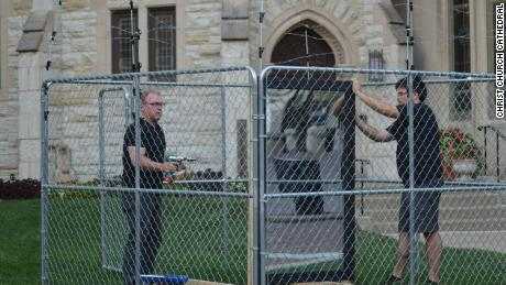 An Indianapolis church replaced a caged Holy Family with a mirror as a statement protesting US immigration policy.