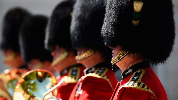 A bead of sweat falls from a member of the Queen's Guard as he takes part in a changing of the guard ceremony in London on Monday, July 23. The UK is currently in the midst of one of its hottest summers on record, according to the Met Office.