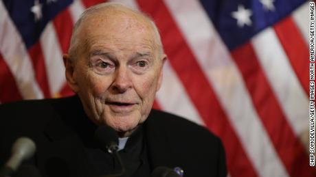 Theodore McCarrick speaks during a 2015 news conference with senators and religious leaders in Washington.