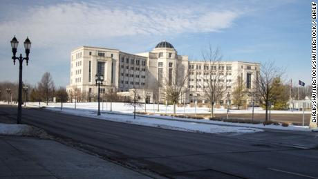 Michigan's Hall Of Justice in downtown Lansing