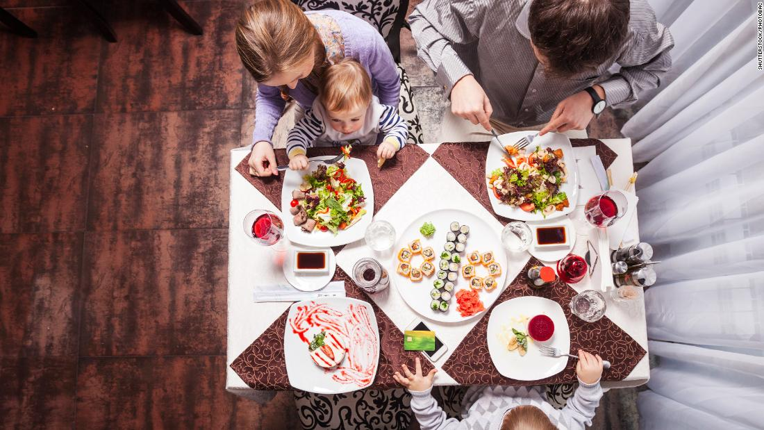 "Parents should model healthy eating behavior, said Ellyn Satter, author of ""Child of Mine: Feeding with Love and Good Sense.""<br />""Kids do better with eating when they get their parents' undivided, positive attention,"" said Satter, adding that rule applies even when serving take-out or going to a restaurant. ""However you put together a meal, it's still important to sit down together and pay attention to each other when you eat it."""