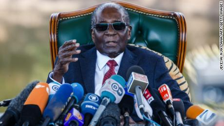 Zimbabwe's president declares Mugabe national hero and 'a remarkable statesman'