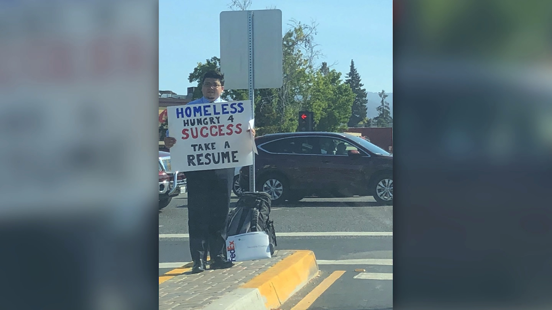 Homeless man hands out resumes, goes viral - CNN Video