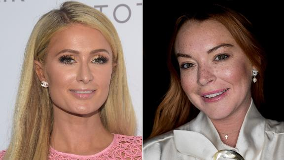 Paris Hilton, left, and Lindsay Lohan