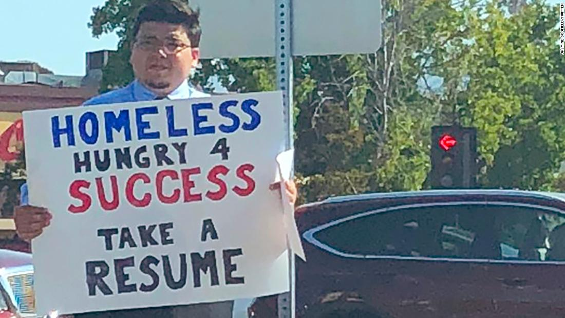 A Homeless Man Handing Out Resumes In Silicon Valley Gets More Than