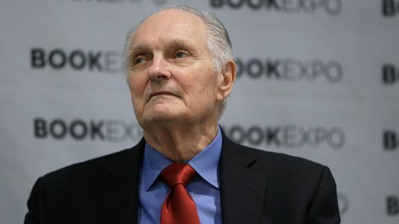 """Actor Alan Alda  speaks during the """"Audio Publishers Association"""" panel at the BookExpo 2017 at Javits Center on June 2, 2017 in New York City.  John Lamparski/Getty Images"""