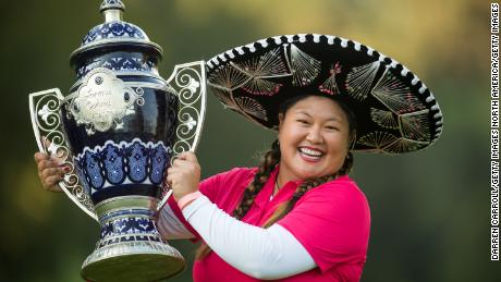 Three-time LPGA Tour winner Christina Kim is known for her outgoing personality.