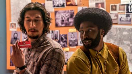 Adam Driver, John David Washington in 'BlacKkKlansman'