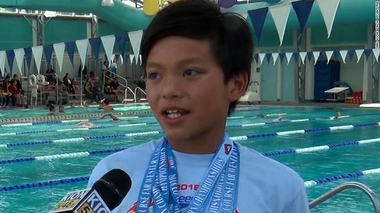 Young swimmer breaks Michael Phelps' record