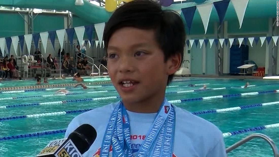 A 10-year-old named Clark Kent beat a record that Michael Phelps held for 23 years