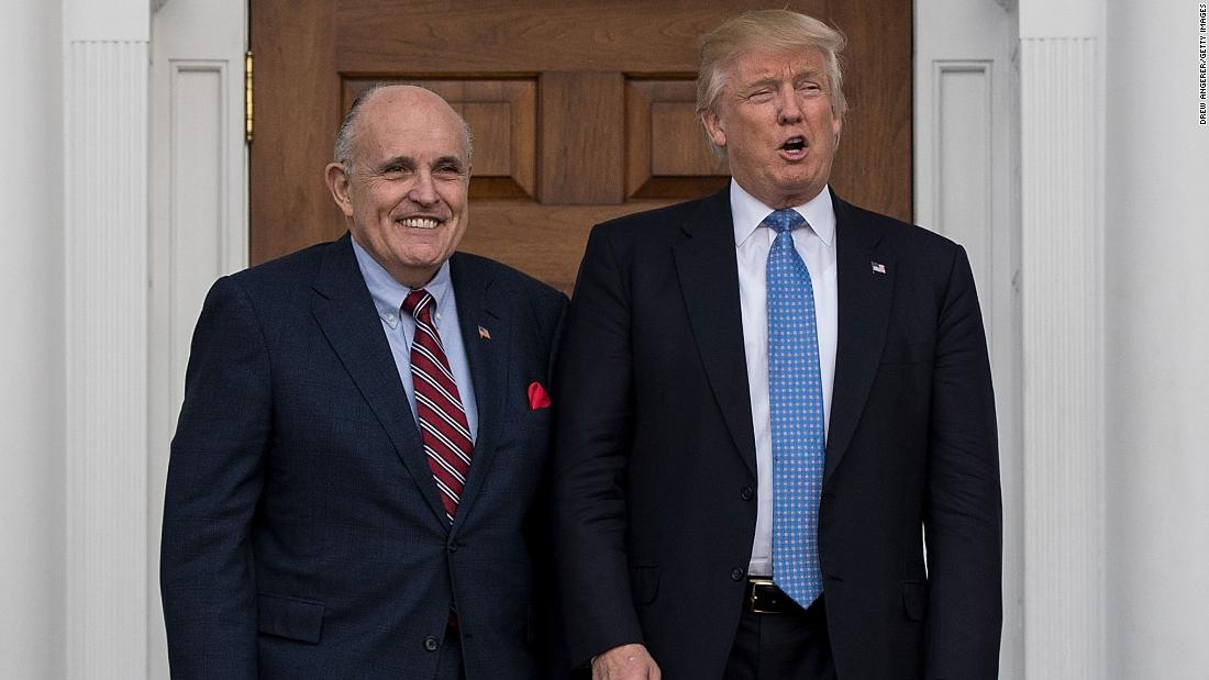 Giuliani says Trump Tower meeting was to get Clinton dirt