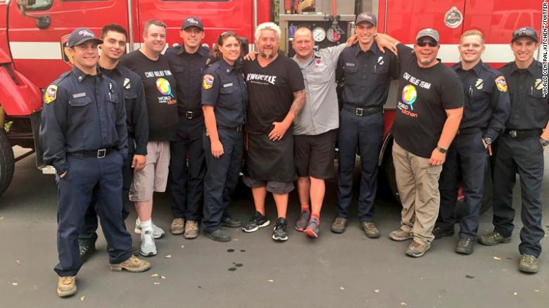 These guys are in Redding, California, to help feed evacuees and first responders.