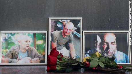 The Russian Foreign Ministry said journalistic documents were found with the bodies identifying the men as Orhan Dzhemal, Kirill Radchenko and Alexander Rastorguyev.