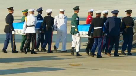 Watch ceremony for US soldiers remains CNN Video