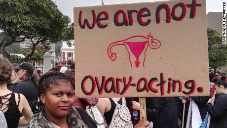 "Twitter user Martha Puth posted this image with the caption, ""#TotalShutDown March against gender based violence"""