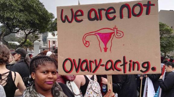 """Twitter user Martha Puth posted this image with the caption, """"#TotalShutDown March against gender based violence"""""""