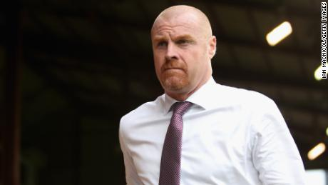 Burnley manager Sean Dyche is pictured at the game with Aberdeen last week.