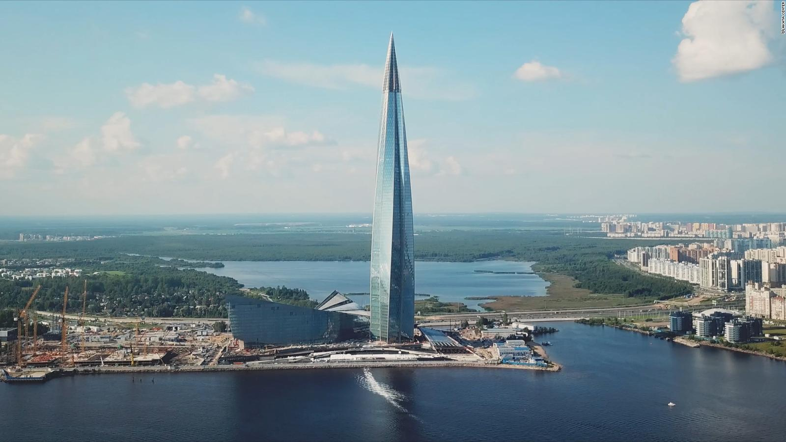 Image result for Lakhta Center broke ground in 2012 and will serve as the headquarters of Russian gas giant Gazprom