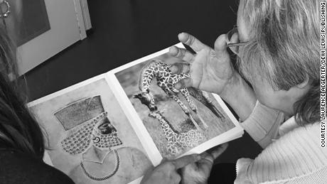 "An elderly woman looks at a ""Photographic Treatment"" book and describes and compares what she sees. The pairing ""raises for me the question of function and aesthetics of geometry and why it is attractive to look at repetitive patterns -- because we find geometry highly aesthetic,"" creator Laurence Aëgerter said."
