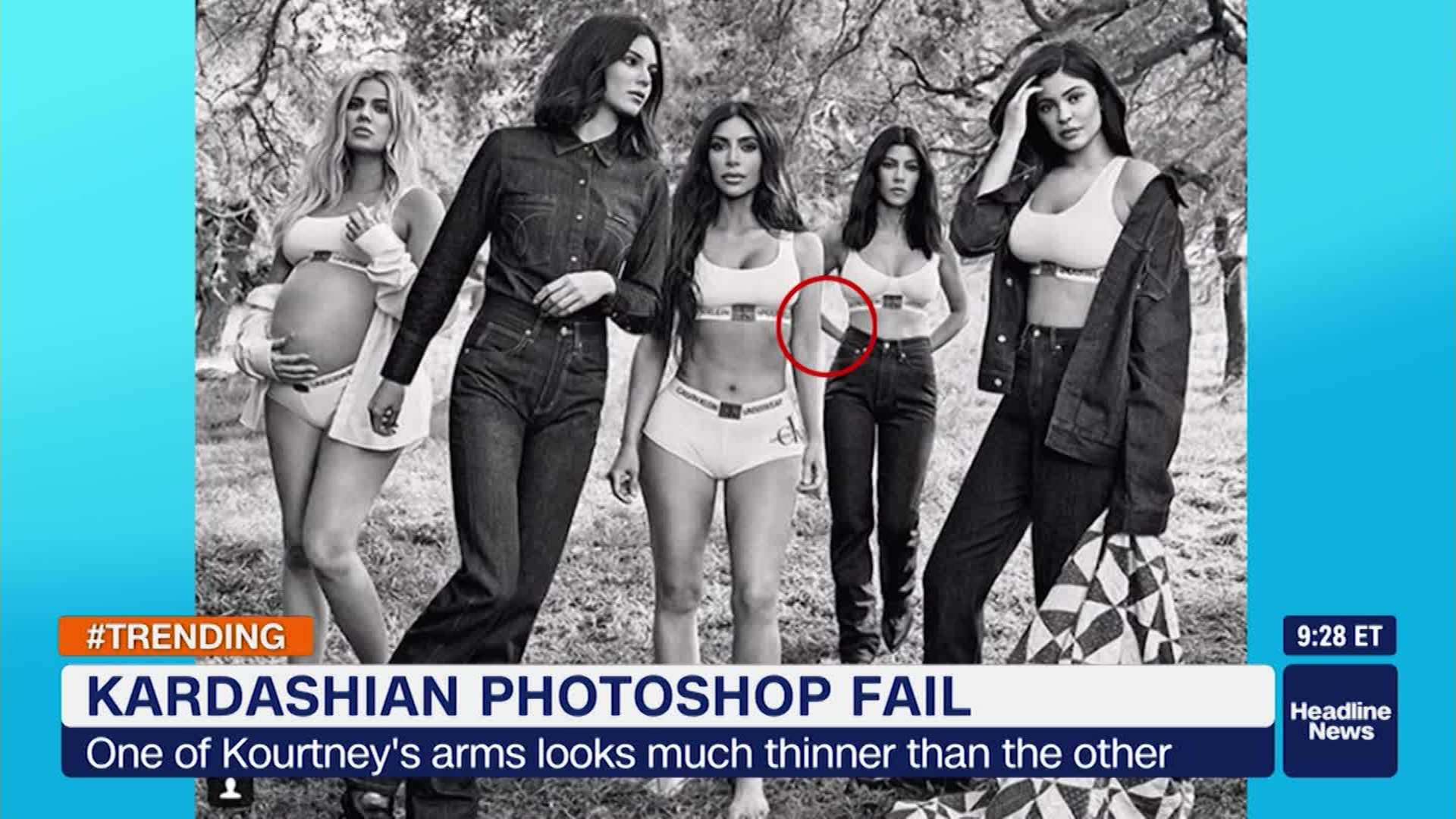 Editing Fail In Kardashian Photo Shoot Cnn Video
