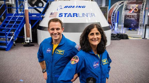 From left: Josh Cassada, Suni Williams