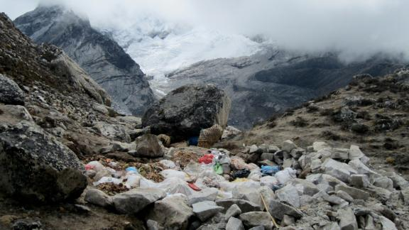 Here the waste is dumped in open pits.