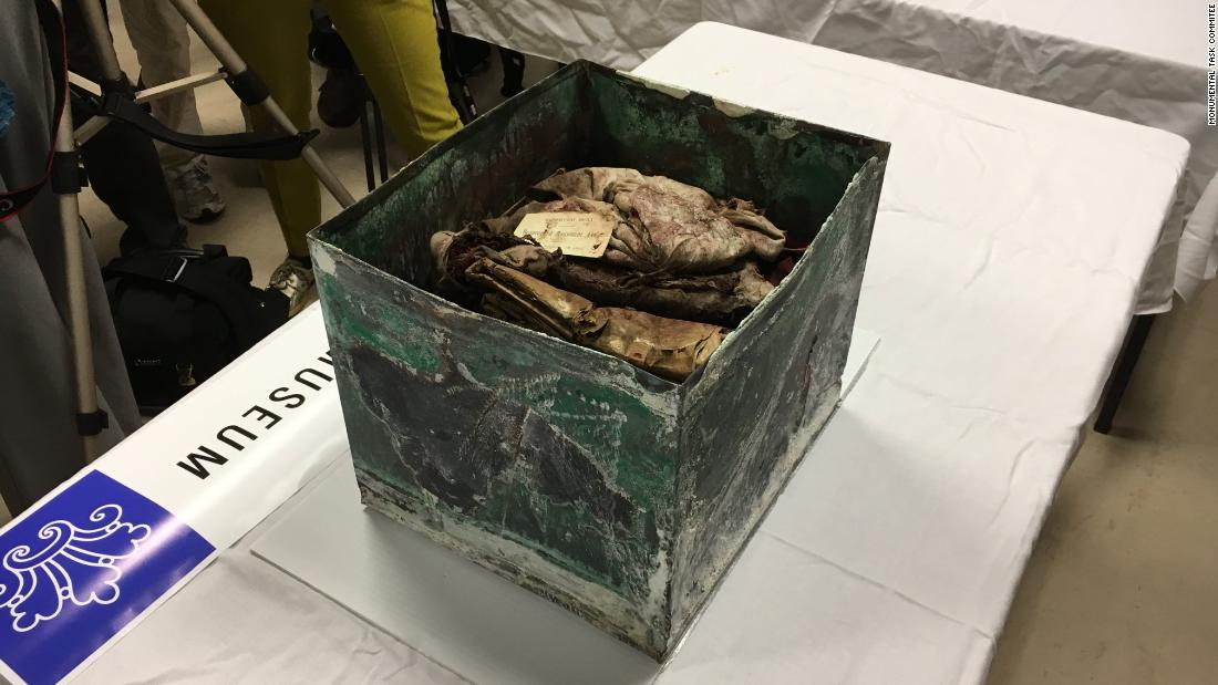 Box found under Confederate statue opened